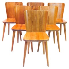Göran Malmvall dining Chairs Model 510 , 1950s