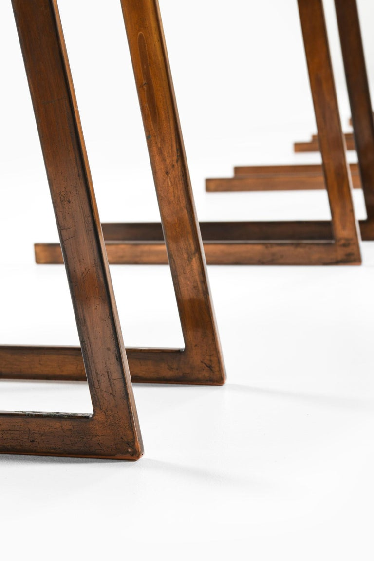 Rare set of 6 dining chairs by unknown designer. Produced in Italy.