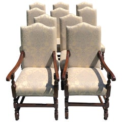 Dining Chairs, Upholstered in Damask Fabric, '10'
