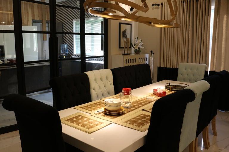 Dining Chandelier by Raka Studio, Bent Wood For Sale 2