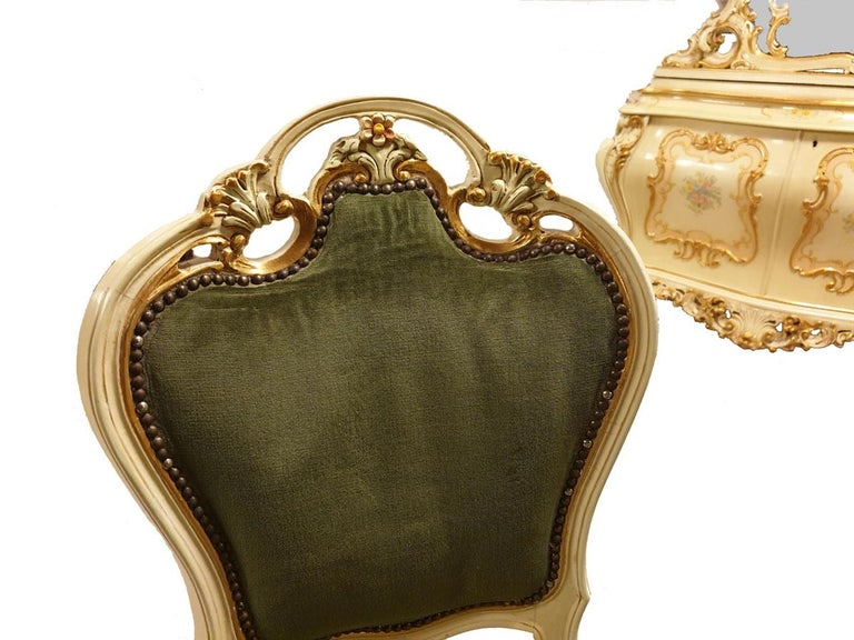 Dining / Living Room Set of 10 Pieces in the Style of Venetian Rococo For Sale 7