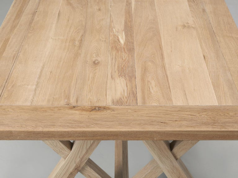 Dining or Kitchen Table Made from California White Oak For Sale 3