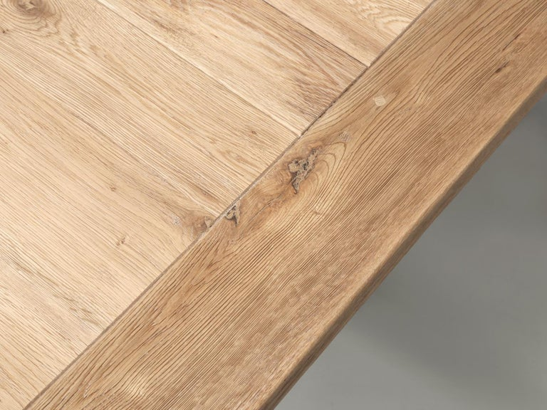Dining or Kitchen Table Made from California White Oak For Sale 4