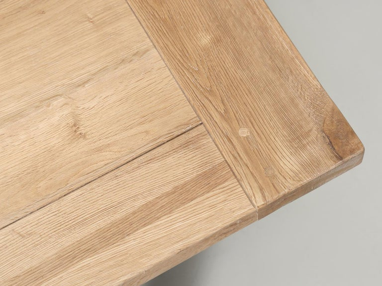 Dining or Kitchen Table Made from California White Oak For Sale 5