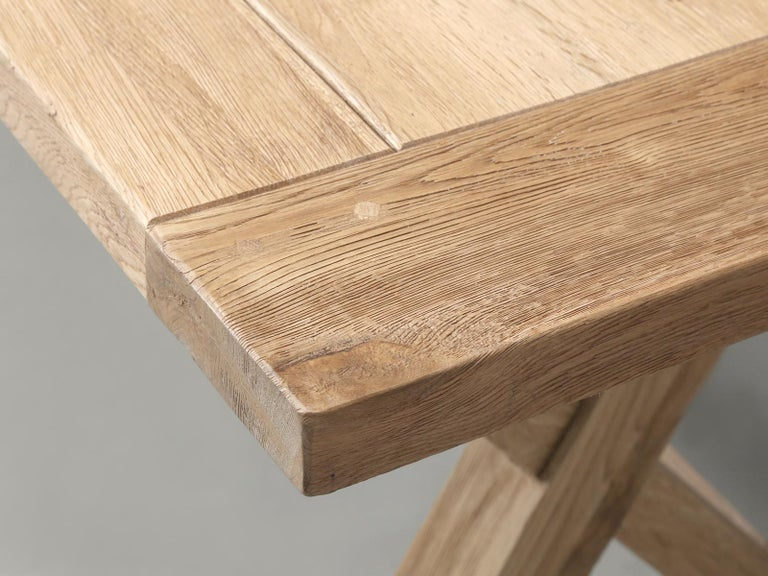 Dining or Kitchen Table Made from California White Oak For Sale 6