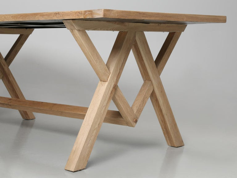 Dining or Kitchen Table Made from California White Oak For Sale 7