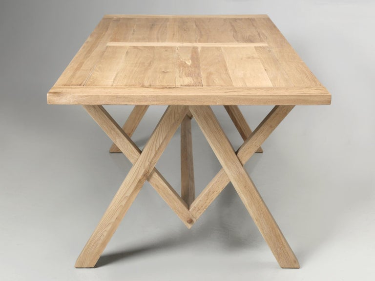 Vietnamese Dining or Kitchen Table Made from California White Oak For Sale