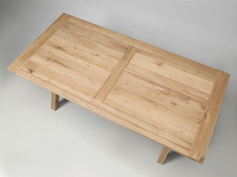 Machine-Made Dining or Kitchen Table Made from California White Oak For Sale