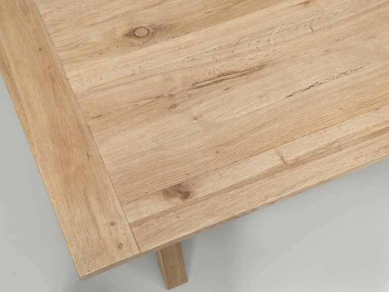 Contemporary Dining or Kitchen Table Made from California White Oak For Sale