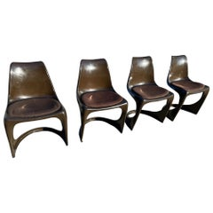 Dining or Outdoor Chairs by Steen Ostergaard for Cado, 1966