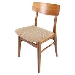 Dining Room Chair in Teak and Light Fabric of Danish Design from the 1960s