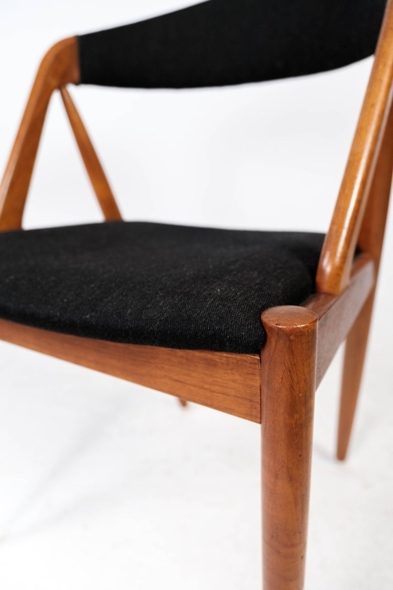 Scandinavian Modern Dining Room Chair, Model 31, Designed by Kai Kristiansen in 1956 For Sale