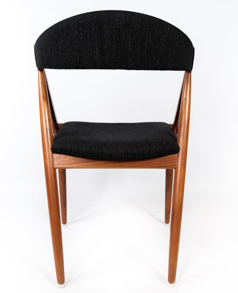 Wool Dining Room Chair, Model 31, Designed by Kai Kristiansen in 1956 For Sale