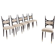 Dining Room Chairs in the Style of Paolo Buffa, Italy, 1950s
