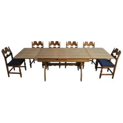 Dining Room Set by Henning Kjærnulf, Denmark, 1960s