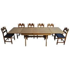 Dining Room Set by Henning Kjærnulf, Denmark, 1960s