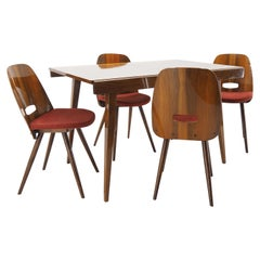 Dining Room Set Chairs and Dining Table, Tatra Pravenec, 1960s