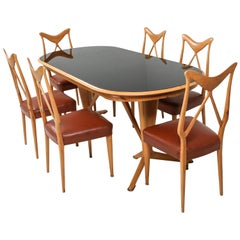 Gio Ponti Style Dining Room Set