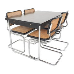 Dining Room Set in the Style of Marcel Breuer for Thonet, 1980's