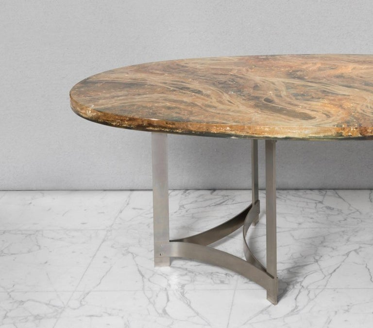 French Dining-Room Table by Gilles Charbin For Sale