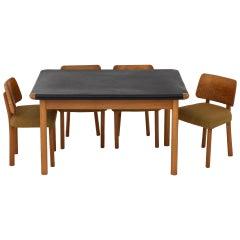 Dining Set by Hans Christian Hansen & Erhard Rasmussen