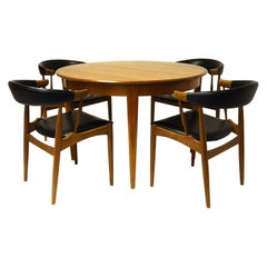 Dining Set by Johannes Andersen Teakwood Design Denmark 1960s diningtable chairs