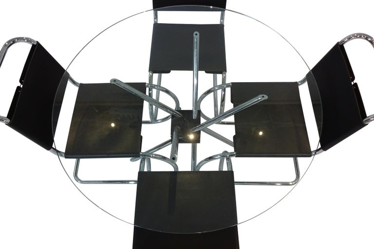 Bauhaus Dining set - Knoll International Mies Van Der Rohe Mr10 Chairs and Mz59 Table For Sale