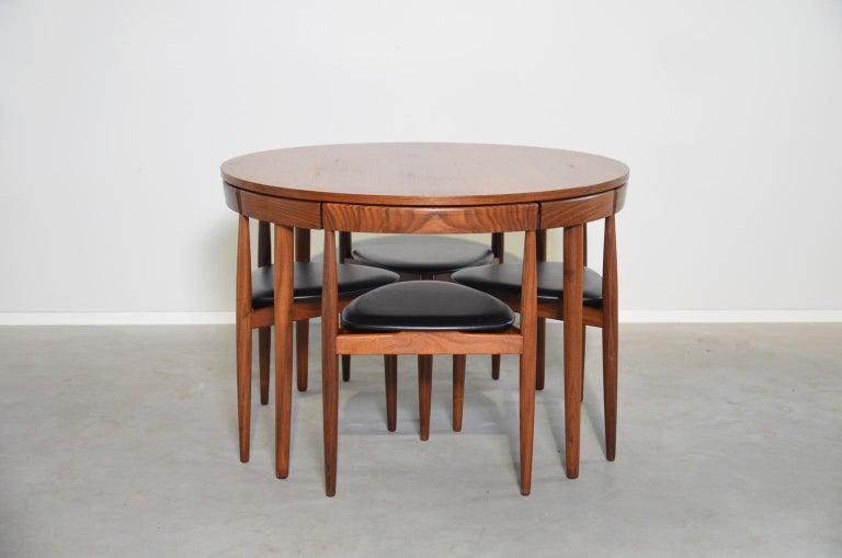 Mid-Century Modern Dining Set Roundette Hans Olsen for Frem Røjle For Sale