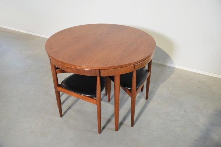 Danish Dining Set Roundette Hans Olsen for Frem Røjle For Sale