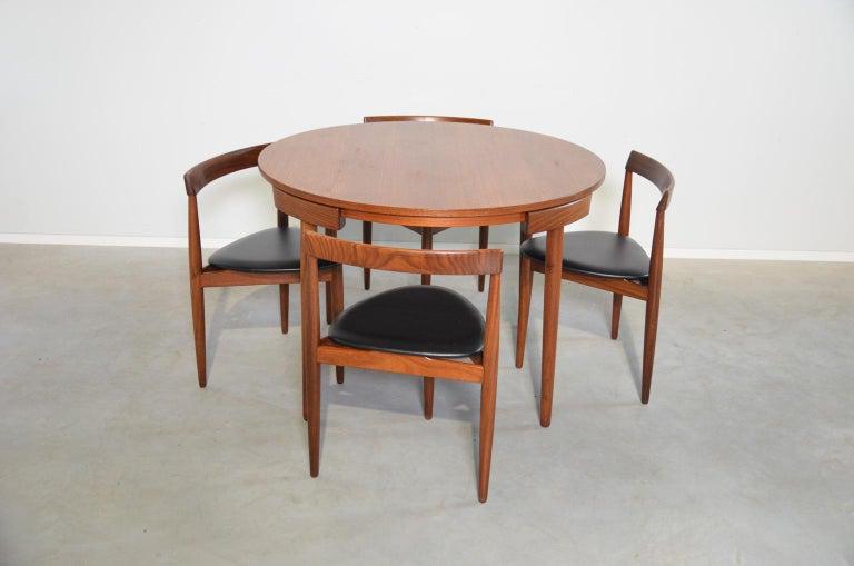 Mid-20th Century Dining Set Roundette Hans Olsen for Frem Røjle For Sale