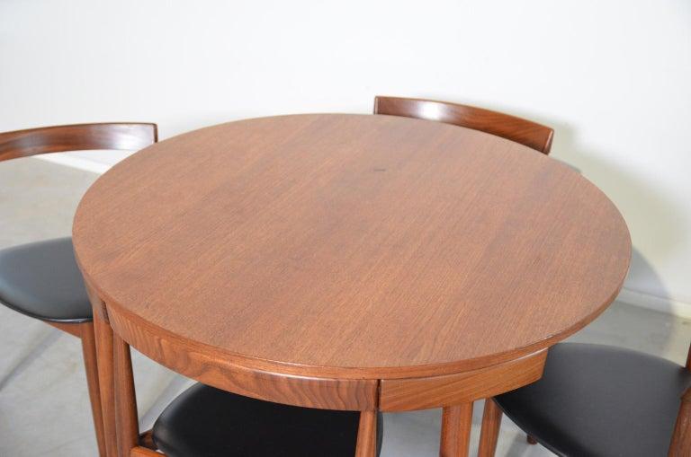 Faux Leather Dining Set Roundette Hans Olsen for Frem Røjle For Sale