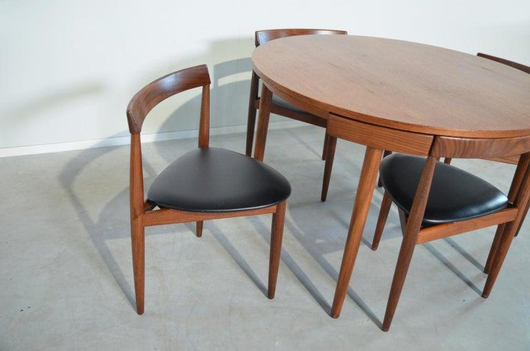 Dining Set Roundette Hans Olsen for Frem Røjle For Sale 1
