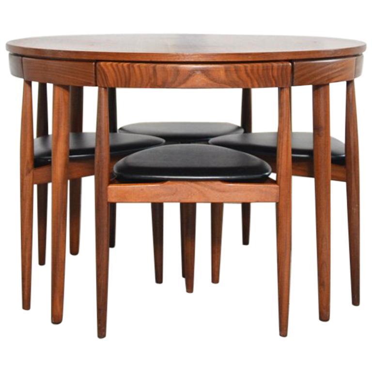 Dining Set Roundette Hans Olsen for Frem Røjle For Sale