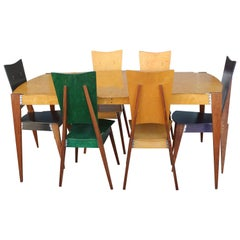 Dining Set, Six Chairs and Table by Randy Castellon, Maker Studio