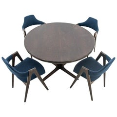 Dining Set Skovby with Compass Chairs, Danish Design, 1960s