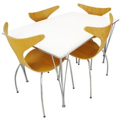 Dining Set - Vintage Piet Hein Space Saving Table & Danform Chairs