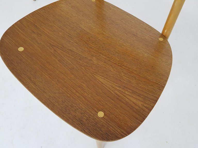Dining Set with Table TB35 and Chair SB11, Cees Braakman for Pastoe, Dutch 1950s For Sale 5