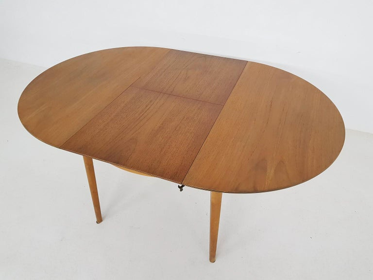 Dining Set with Table TB35 and Chair SB11, Cees Braakman for Pastoe, Dutch 1950s For Sale 9