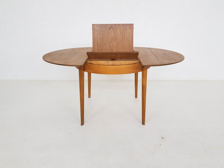 Dining Set with Table TB35 and Chair SB11, Cees Braakman for Pastoe, Dutch 1950s For Sale 10