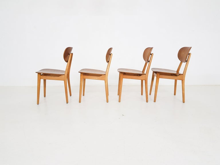Dining Set with Table TB35 and Chair SB11, Cees Braakman for Pastoe, Dutch 1950s For Sale 1