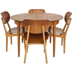Dining Set with Table TB35 and Chair SB11, Cees Braakman for Pastoe, Dutch 1950s