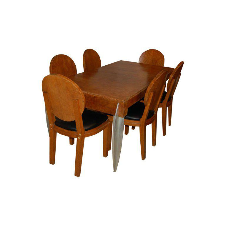 Dining Table 6 Chairs Sale: Dining Table And 6 Chairs By Michel Dufet For Sale At 1stdibs