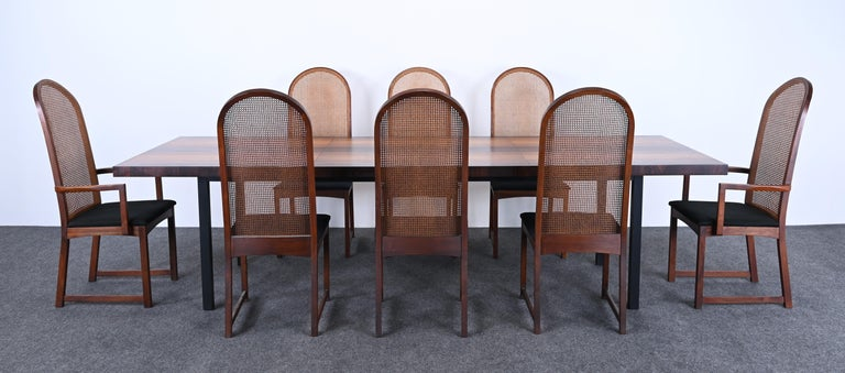 Mid-Century Modern Dining Table and Chairs by Milo Baughman for Directional, 1960s For Sale