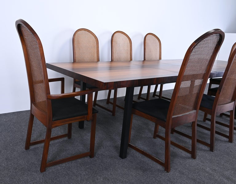 Dining Table and Chairs by Milo Baughman for Directional, 1960s In Good Condition For Sale In Hamburg, PA