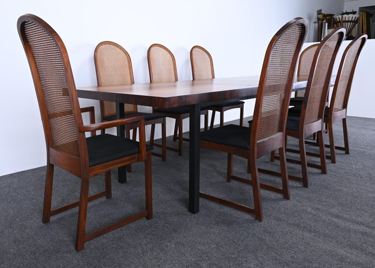 Mid-20th Century Dining Table and Chairs by Milo Baughman for Directional, 1960s For Sale