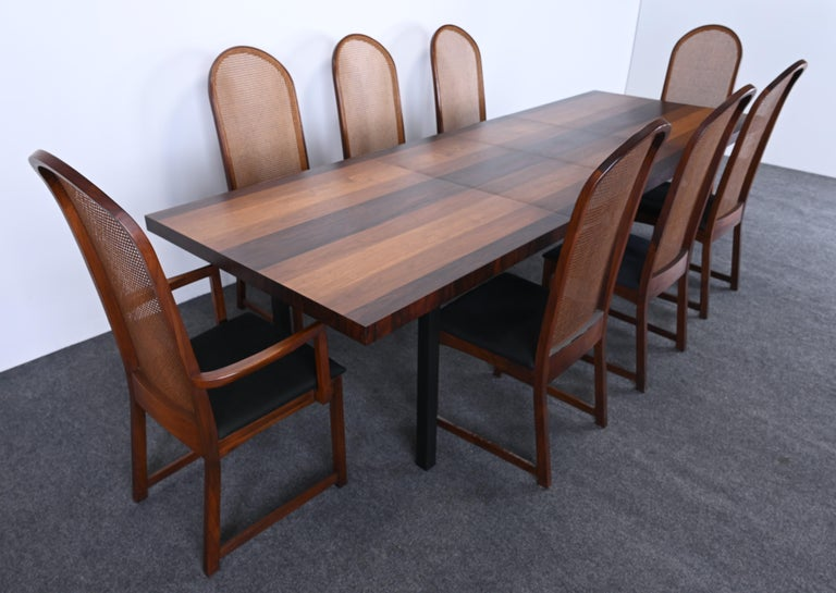 Teak Dining Table and Chairs by Milo Baughman for Directional, 1960s For Sale