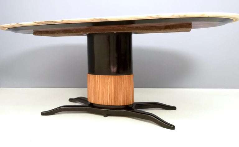 Dining Table Ascribable to Paolo Buffa with a Pink Marble Top, Italy, 1950s For Sale 4