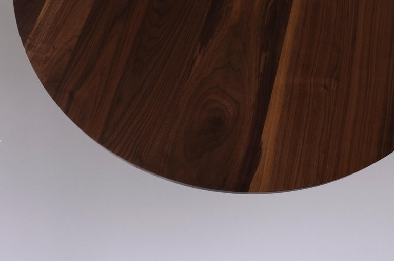 Dining Table by Campagna, Contemporary Minimal Pill Shaped Walnut Wooden Table For Sale 3