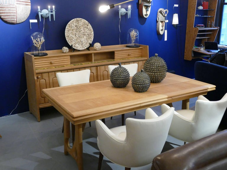 """Turned Dining Table by Guillerme et Chambron, """"A l'Italienne"""" For Sale"""