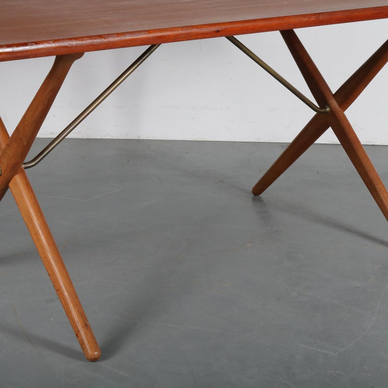 Dining Table by Hans J. Wegner for Andreas Tuck, Denmark, circa 1950 For Sale 5
